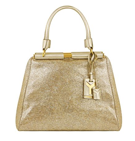 Yves Saint Laurent - US - Medium Majorelle - Handbags :  handbag leather purse gold