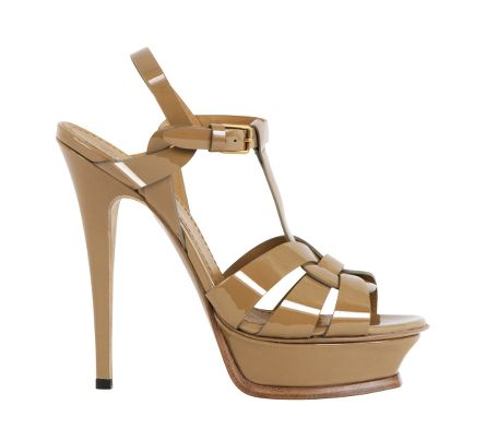 Yves Saint Laurent - US - Camel Patent Platform Sandal 105 mm - Shoes :  chic designer sexy heels