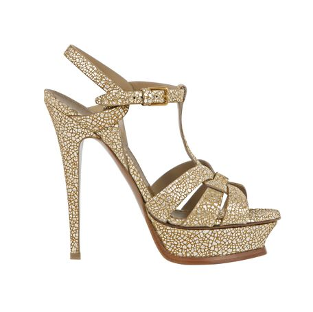 Yves Saint Laurent - US - Metallic Platform Sandal 105 mm - Shoes