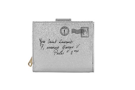 Yves Saint Laurent - US - Y-Mail Silver Zip Wallet - SmallLeathergoods