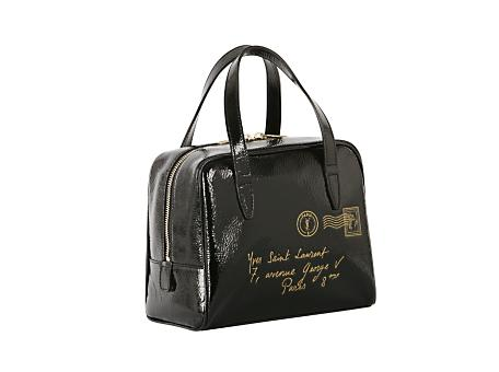 Yves Saint Laurent - US - Mini Y-Mail Patent Tote Bag in Black - Handbags :  black y-mail yves straps