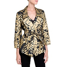 Yves Saint Laurent - US - Black Printed Jacket - Jackets and Coats