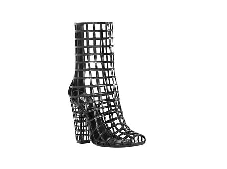 Yves Saint Laurent - US - Cage Boot in Black Patent - Boots :  shoes designer fashion boot patent leather