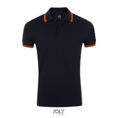 535 French navy / Neon orange