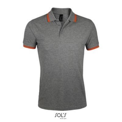 932 Melange grey / Orange