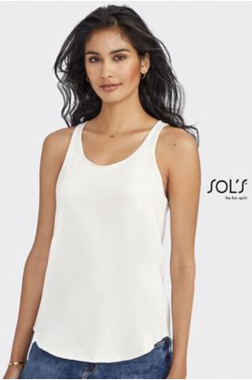 Jade Tank Top naisille (T10) - T-paidat POLYESTERI SOL'S - 02944 - 1