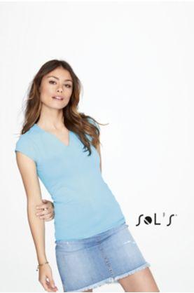 Mint Naisten V-aukkoinen T-paita - T-paidat muut - 11165 - 1