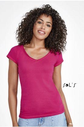 Mild V-aukkoinen Naisten T-paita - T-paidat muut - 11387 - 1