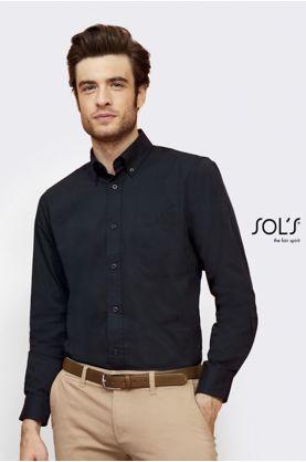 Bel Air 1/1-hiha miesten Twill paita - Kauluspaidat & Neuleet - 16090 - 1