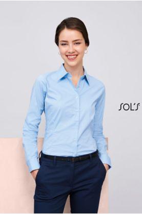 Eden 1/1-hiha naisten Stretch  paita - Kauluspaidat & Neuleet - 17015 - 1